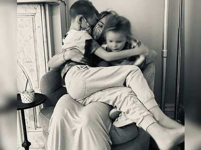 Hilary reunites with kids after COVID-19 scare