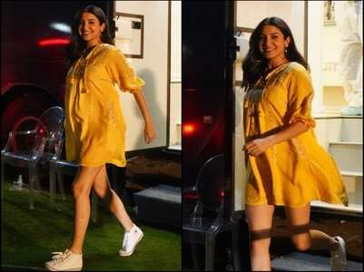 Anushka Sharma stuns in a yellow dress