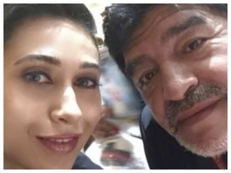 Karisma Kapoor shares pictures with Diego Maradona as she reminisces the time she met the legendary footballer