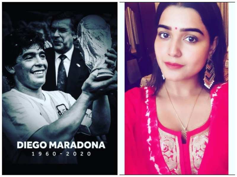 Kanak Pandey mourns the demise of football player Diego Maradona