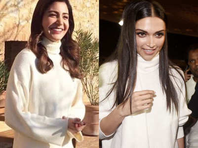 Anushka vs Deepika: Who wore the white turtleneck better?