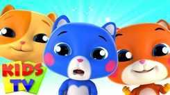 English Kids Poem: Nursery Song in English 'Three Little Kittens - Bob The Train'