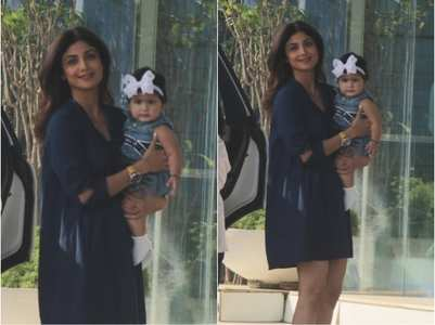 Pics: Shilpa steps out with daughter Samisha
