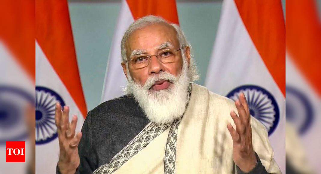 PM Narendra Modi makes pitch for simultaneous elections, one voters' list - Times of India