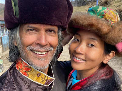 Milind Soman and wife Ankita go trekking