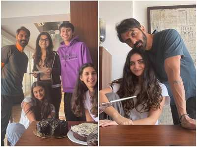 Glimpse of Arjun Rampal's b'day celebration
