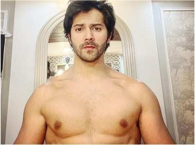 Varun shares a series of shirtless photos