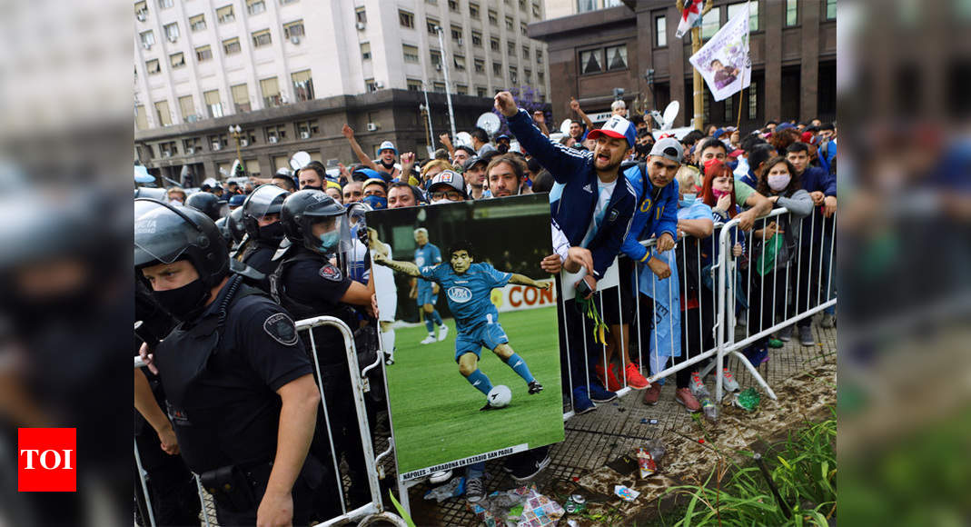 1000's line as much as bid farewell to Maradona in Argentina | Soccer Information – Occasions of India