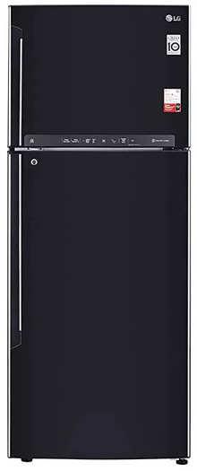 LG 471 L 3 Star Inverter Frost-Free Double Door Refrigerator (GL-T502FES3, Ebony Sheen)