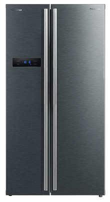 Panasonic 584 L Inverter Frost-Free Side by Side Refrigerator (NR-BS60VKX1, Dark Grey, Stainless Steel Finish)
