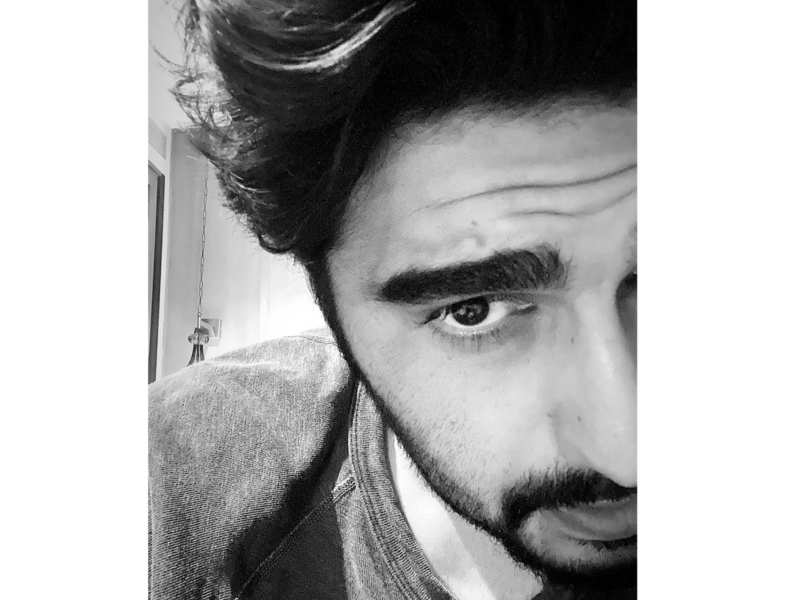 Take a look at Arjun Kapoor's cropped-face monochrome selfie from Dharamsala
