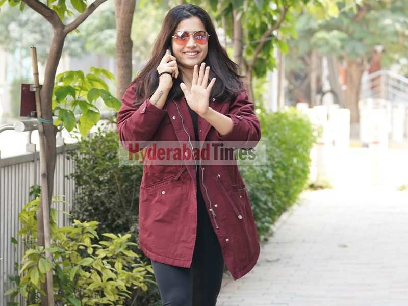 Spotted: Rashmika Mandanna rocks a maroon and black outfit as she heads for a workout