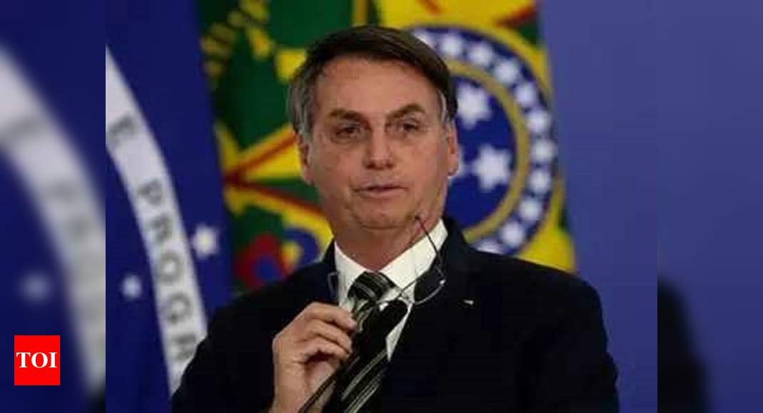 Brazil's Jair Bolsonaro says he will not take coronavirus vaccine – Times of India