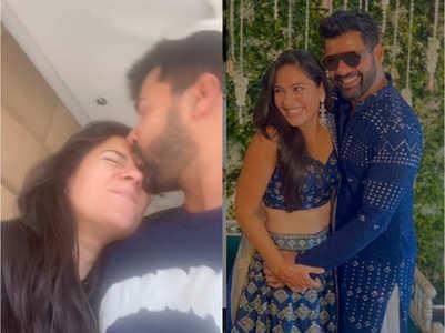 Shabir smothers wife Kanchi Kaul with kisses