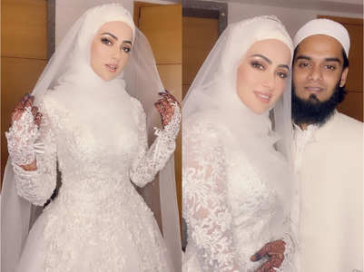 Sana gives a glimpse of her 'nikah'; in pics