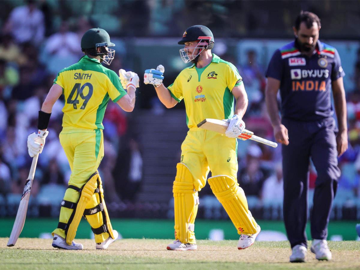India vs Australia 1st ODI: Aaron Finch, Steve Smith tons help Australia  beat India by 66 runs | Cricket News - Times of India