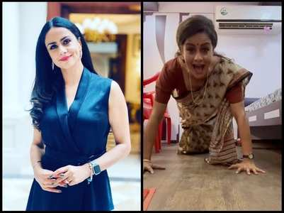 Gul Panag on her viral saree push-up video