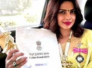 Priyanka reminisces her Padma Shri Win