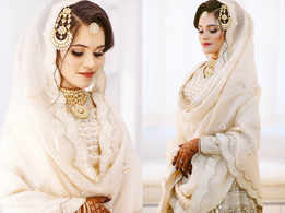 This Doctor wore a beautiful ivory gold lehenga for her Nikah