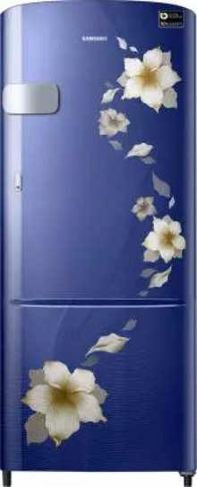 Samsung 212 L Direct Cool Single Door 3 Star (2019) Refrigerator  (Star Flower Blue, RR22M2Y2ZU2/NL)
