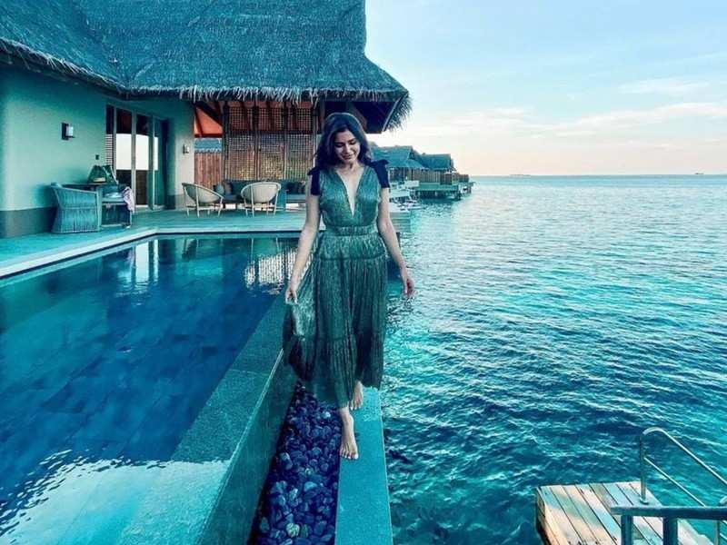 No 'biggini shoot' says Samantha Akkineni sharing a beautiful pic from Maldives vacay