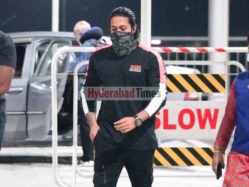 Spotted: Yash leaves Hyderabad after wrapping up shooting for KGF 2 in the city