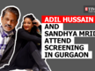 Adil Hussain and Sandhya Mridul attend screening in Gurgaon