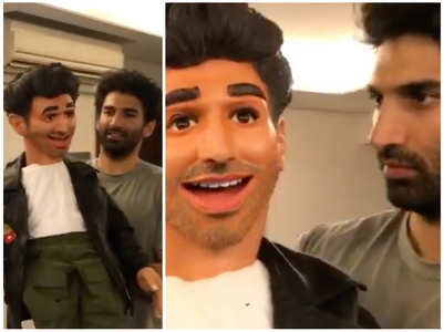 See video: Aditya with his puppet from 'Ludo'