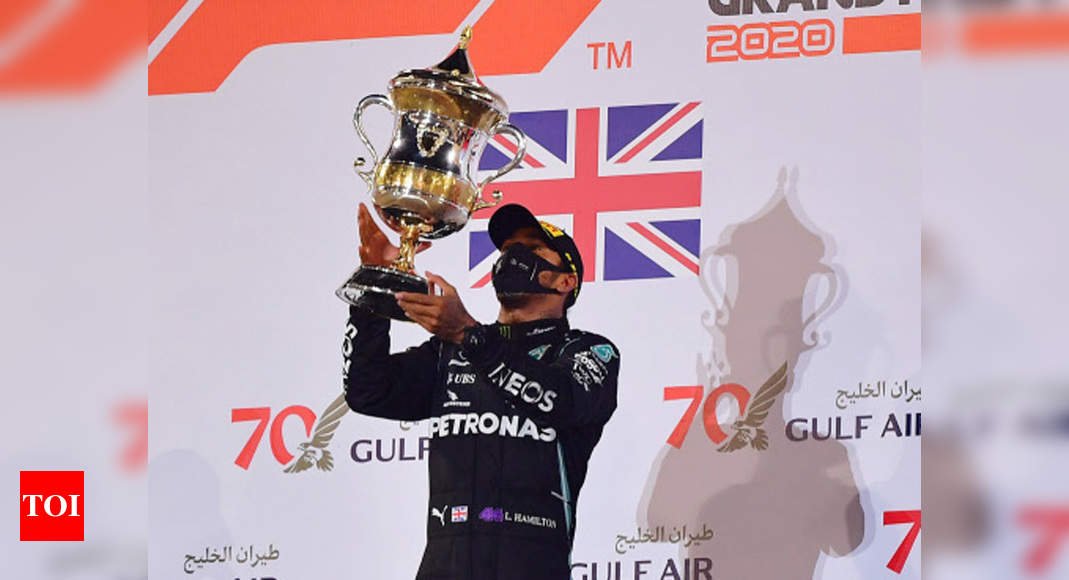 Hamilton wins crash-hit Bahrain Grand Prix | Racing News – Times of India