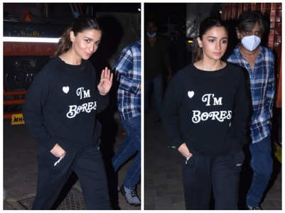 Alia Bhatt papped in the city post shoot