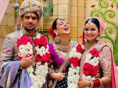 Kangana shares a video of Aksht's wedding