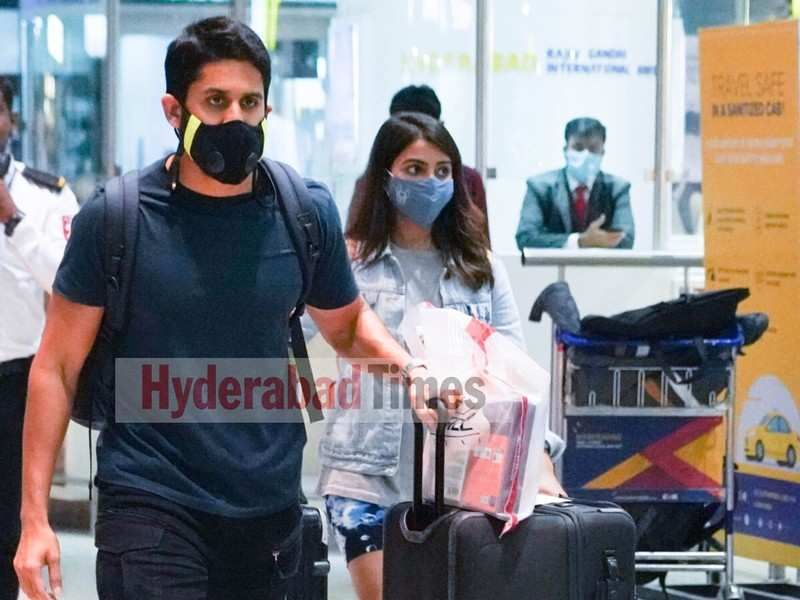Spotted: Tollywood couple Samantha Akkineni and Naga Chaitanya are back to the city after a rejuvenating vacay in Maldives