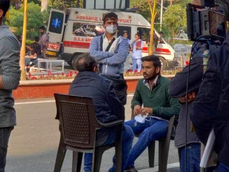 Dhanush shoots for Atrangi Re in Greater Noida
