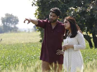 BTS pics of Bhumi-Karan from 'Durgamati'