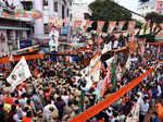 GHMC polls: Amit Shah holds roadshow in Hyderabad
