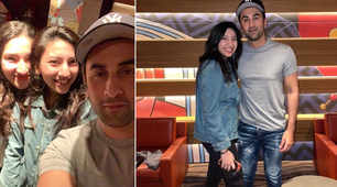 Ranbir happily poses for fans in Dubai, pics go viral