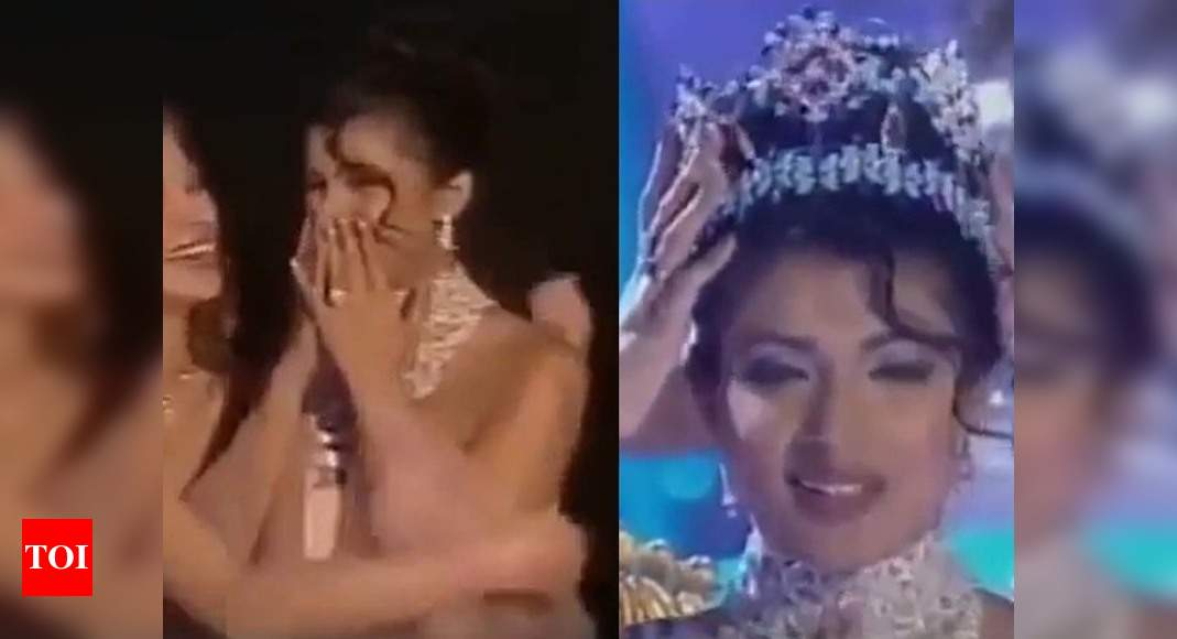 "Priyanka Chopra shares the video of her Miss World win; captions, ""20 years ago, today… this happened"" – Times of India"