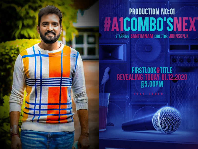 Title of Santhanam's next to be revealed today