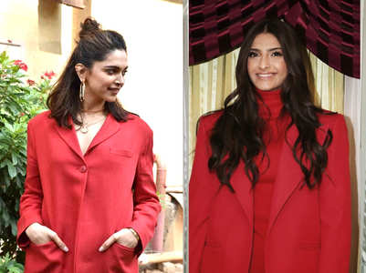 Deepika vs Sonam: Who wore the red pantsuit better?