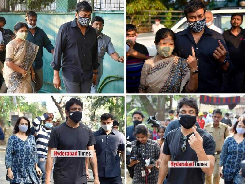 #VoteForChange: Tollywood celebs step out to vote during the GHMC Elections in Hyderabad