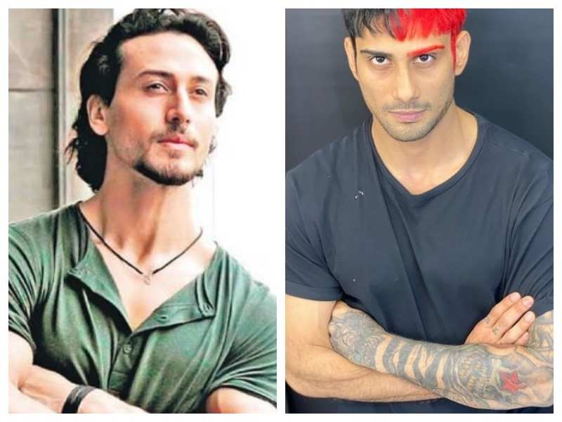 Tiger Shroff is all praise for Prateik Babbar as he dyes one eyebrow and half of his hair red