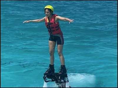 Rakul's flyboarding experience in Maldives