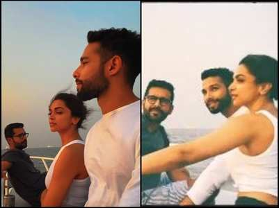 Pics: Siddhant enjoys sunset with Deepika