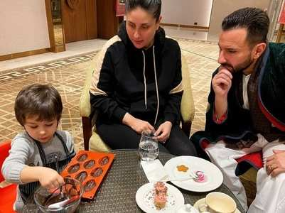 Pics: Chef Taimur shows off culinary skills
