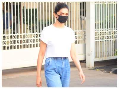 Pics: Deepika heads to Alibaug for shoot