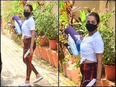 Pics: Malaika snapped post her yoga class