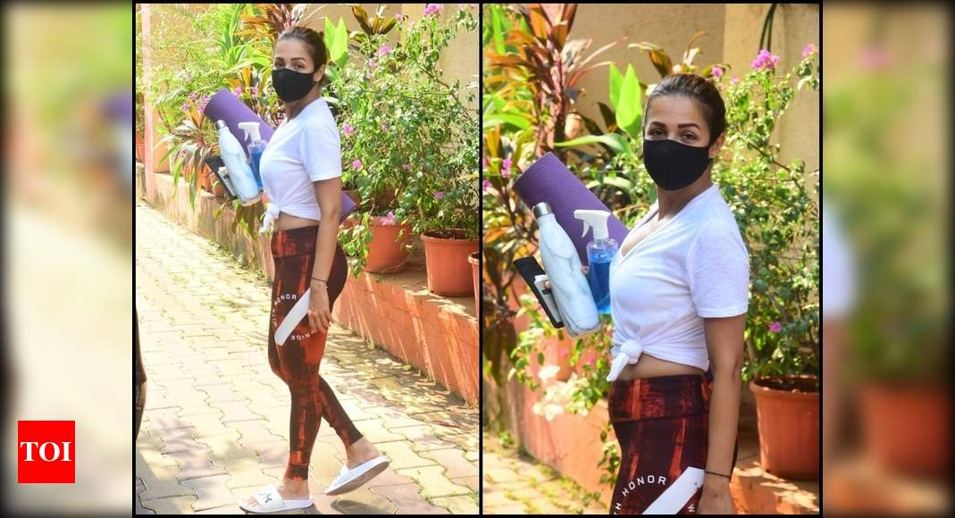 Malaika Arora keeps it cool and casual as she gets clicked outside her yoga class; see photos – Times of India
