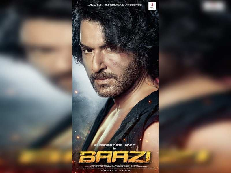 Jeet in 'Baazi' first look poster. Pic Courtesy: Twitter