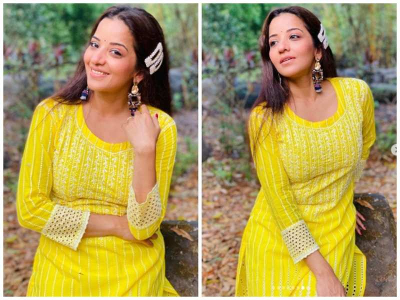 Photos: Monalisa looks as fresh as a Daisy in a Yellow attire