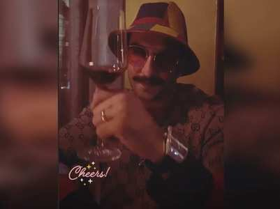 "Ranveer raises a toast to the ""festive month"""